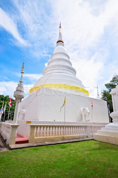 タイ 寺 青 祈る 熱帯 像 ストックフォト © cozyta