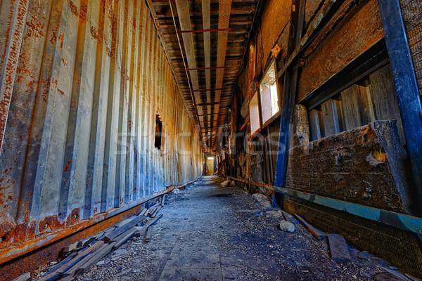Rovine fabbrica danni distruzione casa Foto d'archivio © cozyta