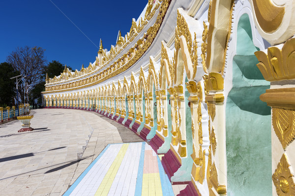 Tempel Myanmar brug reizen standbeeld buddha Stockfoto © cozyta