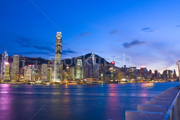 Magic hour of Kowloon Peninsula in Hong Kong  Stock photo © cozyta