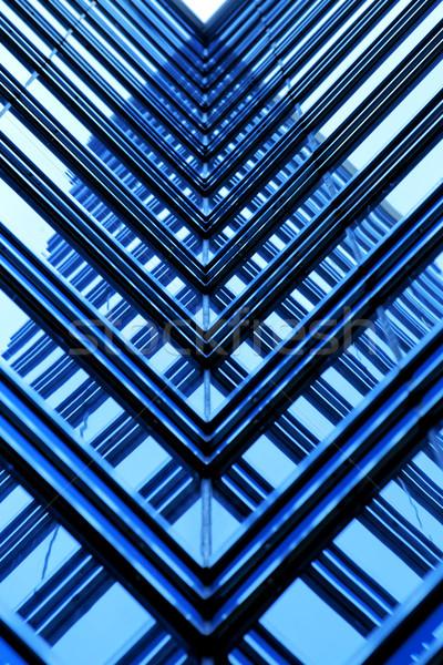 Prédio comercial azul negócio casa edifício Foto stock © cozyta
