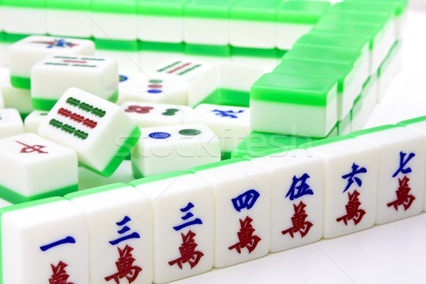 Kínai játék hasonló póker népszerű hazárdjáték Stock fotó © cozyta