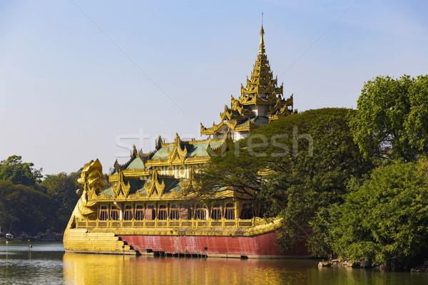 Paleis dag Myanmar business water straat Stockfoto © cozyta