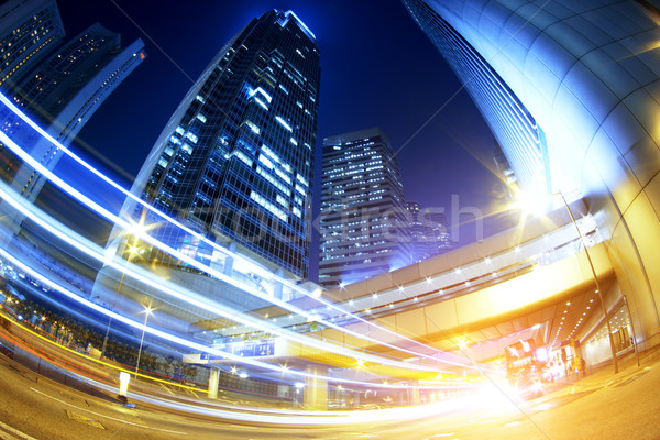 hong kong modern city High speed traffic Stock photo © cozyta