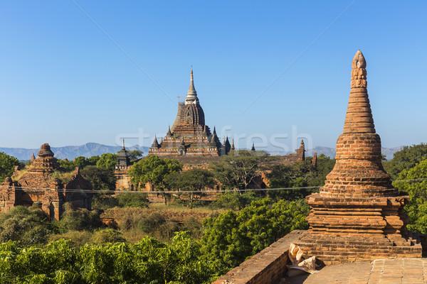 Bagan buddha tower at day Stock photo © cozyta