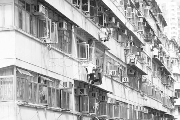 Starych Hongkong dzień domu Zdjęcia stock © cozyta