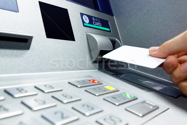 Insert card into ATM Stock photo © cozyta