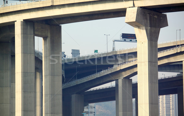 Pillars of viaduct Stock photo © cozyta