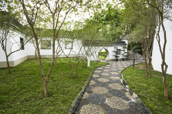 chinese style garden with trees and plants Stock photo © cozyta