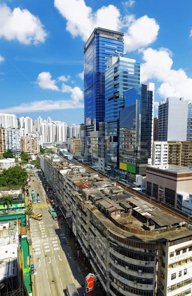 Гонконг день Skyline офисных зданий общественного дома Сток-фото © cozyta