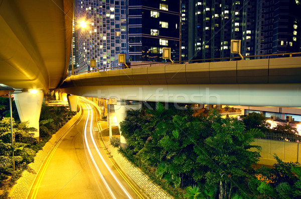 downtown area and overpass in hong kong  Stock photo © cozyta