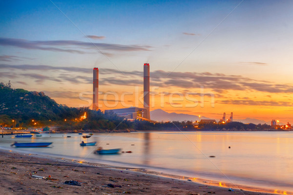 sunset of Petrochemical industry  Stock photo © cozyta