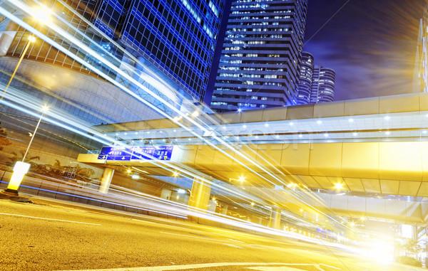 Hong-Kong modernes ville à grande vitesse trafic floue Photo stock © cozyta