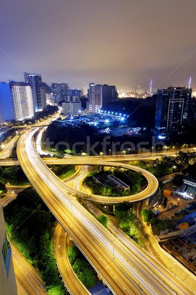 HongKong traffic light trails Stock photo © cozyta