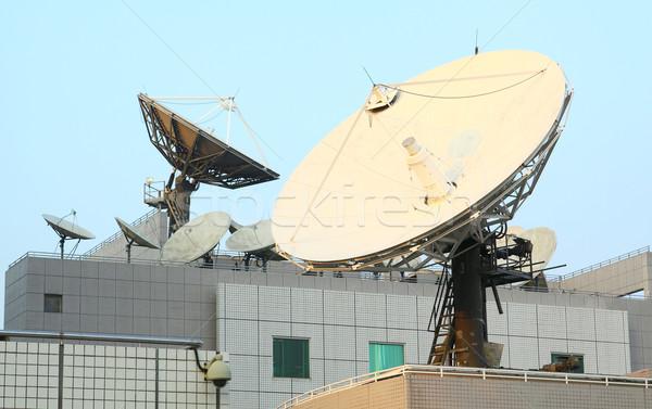 Foto stock: Satélite · comunicaciones · platos · superior · Internet