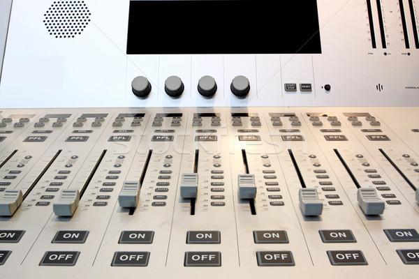 De audio sonido mezclador botones música escritorio Foto stock © cozyta