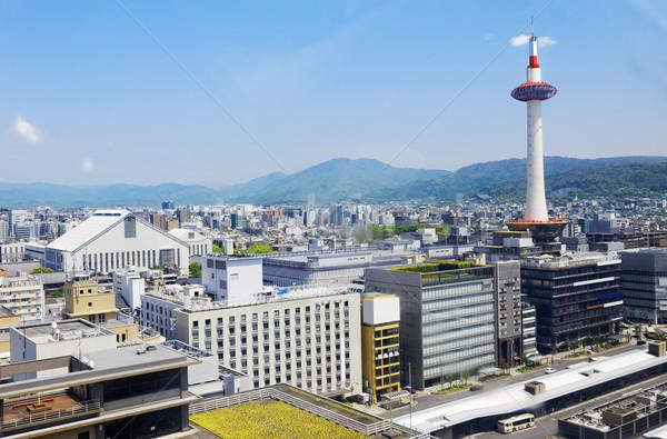 Kyoto, Japan skyline at Kyoto Tower. Stock photo © cozyta