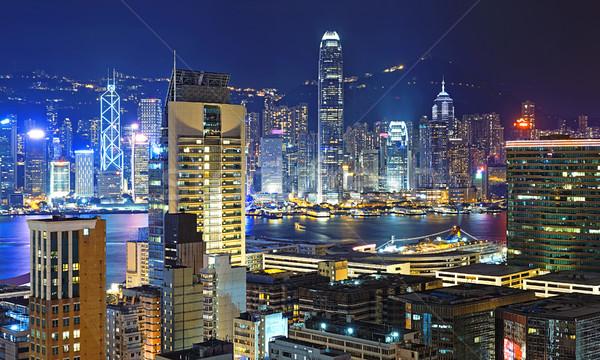 Гонконг центра семьи стены домой окна Сток-фото © cozyta