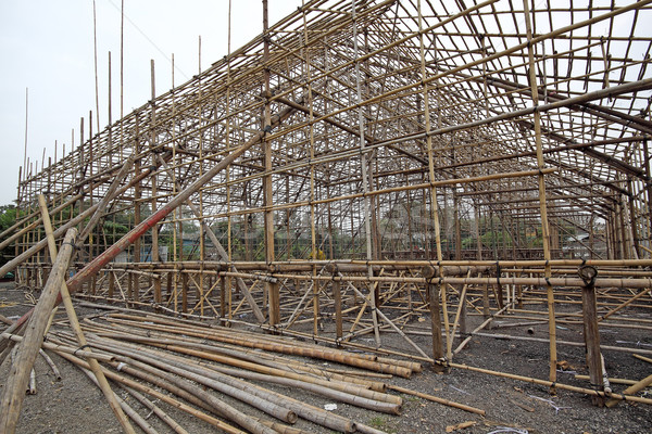 строительные леса этап Китай опера здании небе Сток-фото © cozyta