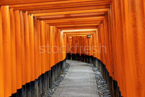 Kyoto Japonya turuncu kırmızı Japon Stok fotoğraf © cozyta