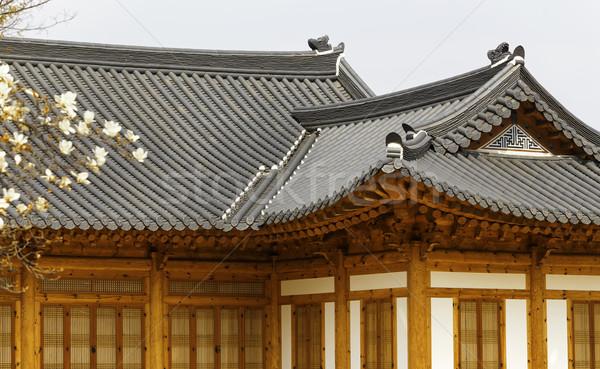 Korea building Stock photo © cozyta