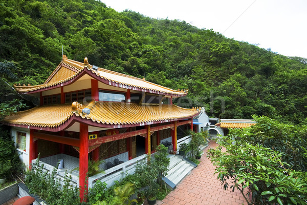 chinese temple in a mountain Stock photo © cozyta