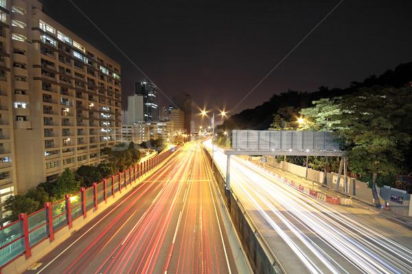traffic through downtown at night  Stock photo © cozyta
