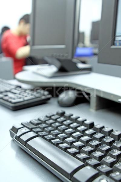 Computerruimte student studeren computer school muis Stockfoto © cozyta