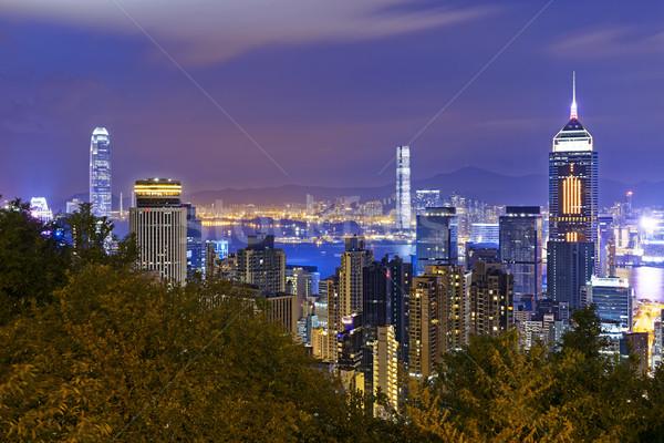Hong Kong City Night Stock photo © cozyta
