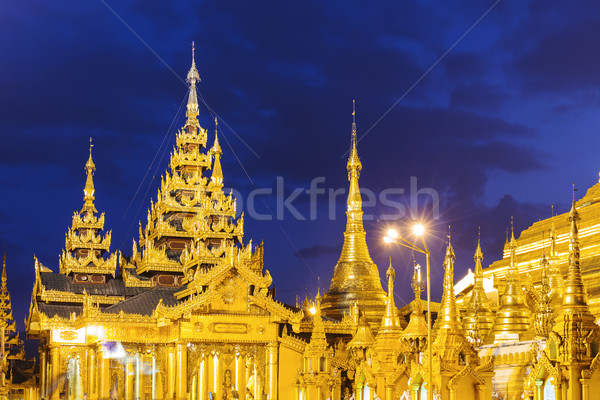 Shwedagon Pagoda at night  Stock photo © cozyta