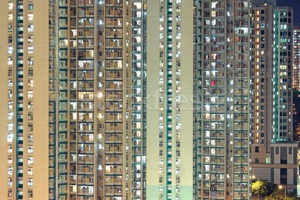 Hong Kong public housing apartment block  Stock photo © cozyta