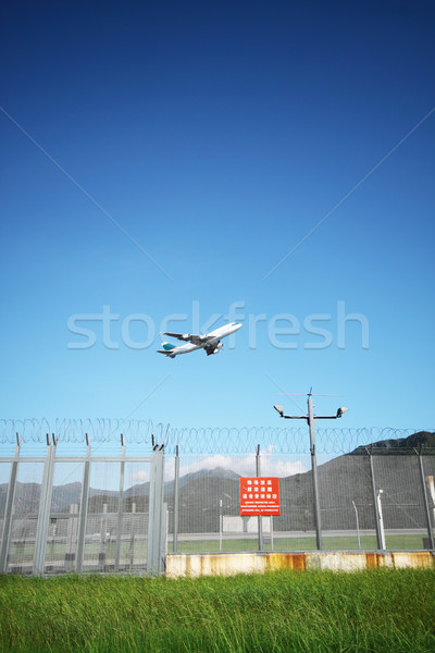 Stock photo: Airplane flying
