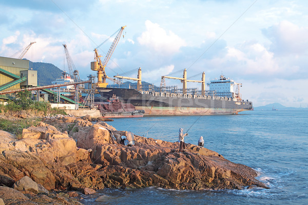 ドック 海 水 都市 業界 石 ストックフォト © cozyta
