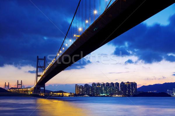 long Bridge over sunrise in hongkong  Stock photo © cozyta