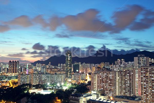 sunset in hongkong downtown Stock photo © cozyta