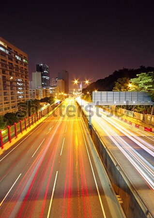pedestrian overpass and traffic bridge at night Stock photo © cozyta