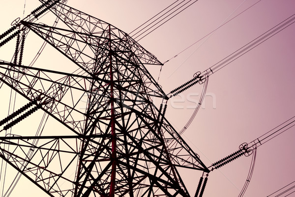 power transmission tower on sky  Stock photo © cozyta