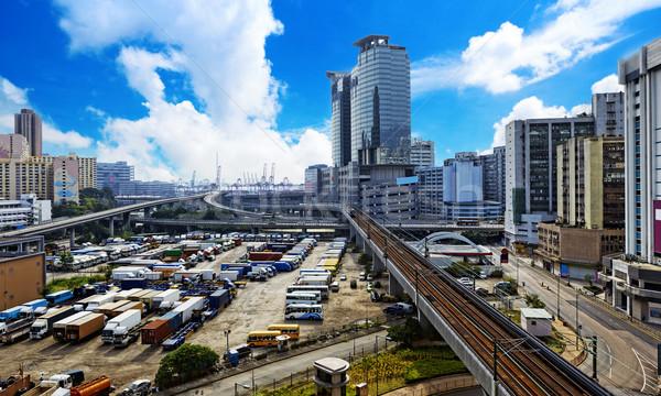 центра город день автомобилей дороги улице Сток-фото © cozyta
