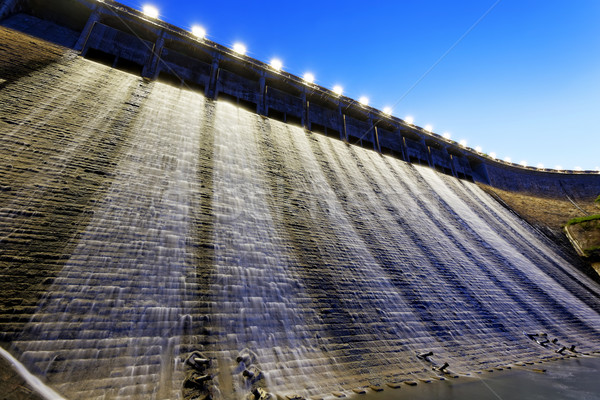Dam at night  Stock photo © cozyta