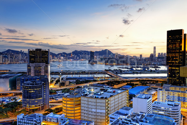 Kowloon at sunset Stock photo © cozyta