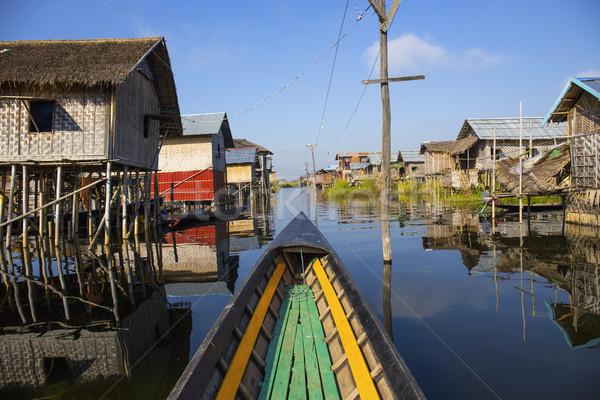 Meer beroemd mijlpaal Myanmar birma venster Stockfoto © cozyta