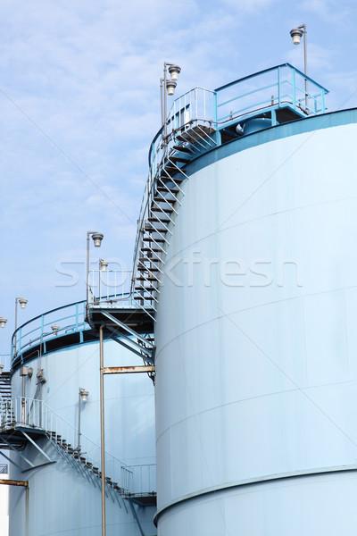 Büyük beyaz benzin yağ rotterdam liman Stok fotoğraf © cozyta