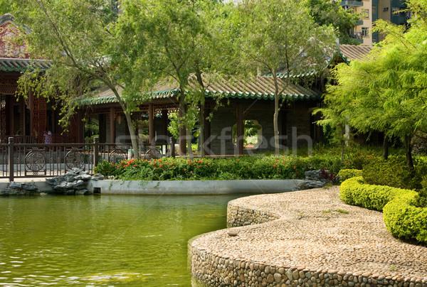 китайский саду здании архитектура парка храма Сток-фото © cozyta
