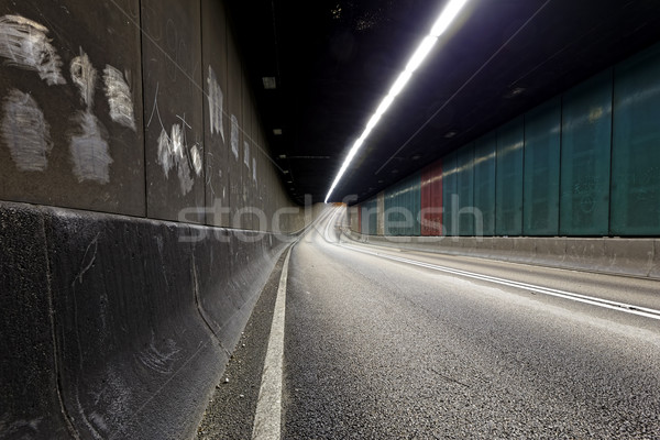 Urbana tunnel interni traffico Hong Kong moderno Foto d'archivio © cozyta