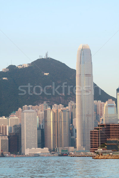Hongkong rano niebo wody miasta ocean Zdjęcia stock © cozyta
