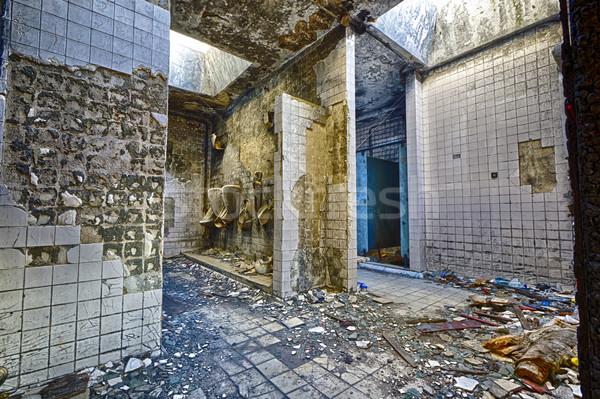 Szellemi kórház fürdőszoba épület bent padló Stock fotó © cozyta