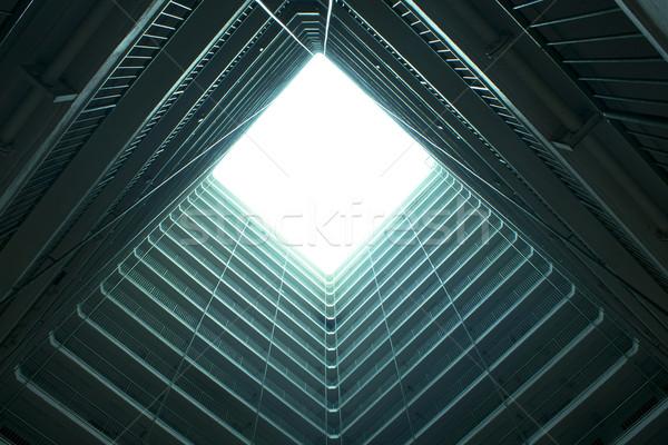 Hongkong publicznych obudowa apartamentu krajobraz świetle Zdjęcia stock © cozyta