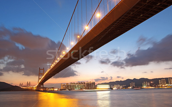 Tsing ma bridge sunset,Hongkong Stock photo © cozyta