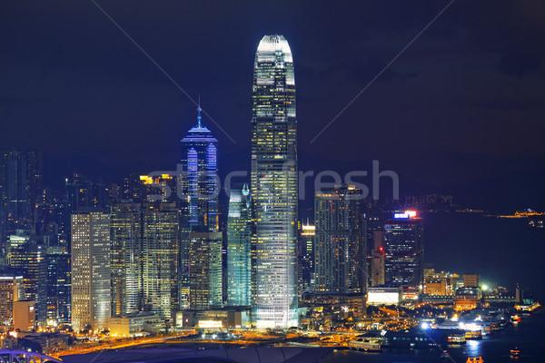 Hong Kong Island night Stock photo © cozyta