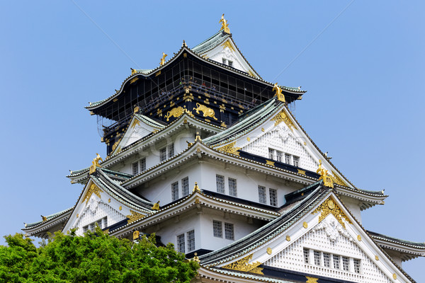 Osaka kale gün Japonya işaret ağaç Stok fotoğraf © cozyta